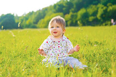 Baby smiling. Royalty Free Stock Photos