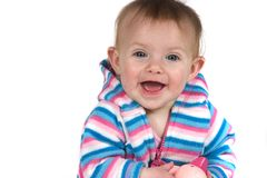 Baby Smiling with Toy Stock Image