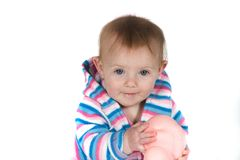 Baby Smiling with Toy Stock Photography