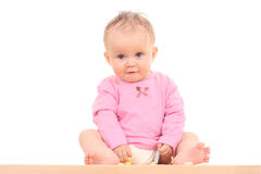 Baby and snack Royalty Free Stock Photos