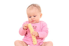 Baby and snack Stock Photo