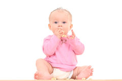 Baby and snack Stock Photos
