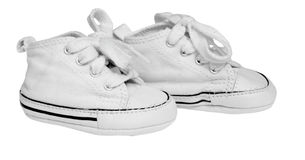 Baby sneakers Royalty Free Stock Images