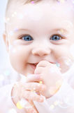 Baby with soap bubbles Royalty Free Stock Photos