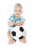 Baby with Soccer Ball Stock Photography
