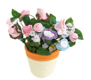 Baby Sock Flower Pot Stock Photography
