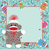 Baby Sock Monkey Shower Invitation Royalty Free Stock Images