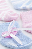Baby socks gift Royalty Free Stock Photo