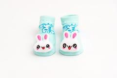 Baby socks isolated on white background Stock Photos