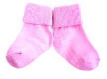 Baby Socks On White Royalty Free Stock Photos
