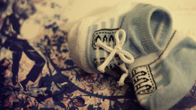 Baby socks Royalty Free Stock Images