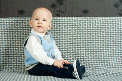 Baby on the sofa Royalty Free Stock Images