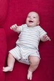 Baby on sofa Royalty Free Stock Photos