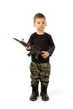 Baby soldier Stock Photo