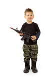 Baby soldier Stock Images
