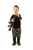 Baby soldier Royalty Free Stock Photo