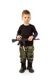 Baby soldier Royalty Free Stock Photos