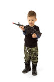 Baby soldier Royalty Free Stock Photography