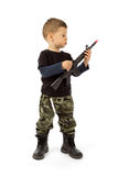Baby soldier Stock Image