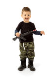 Baby soldier Stock Photos