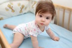Baby som lyfter på händer Arkivbild