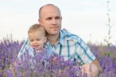 Baby son with dad Royalty Free Stock Photography