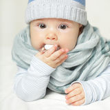 Baby with soother Royalty Free Stock Photos