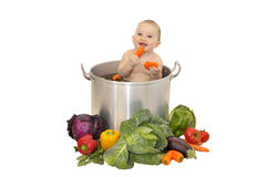 Baby soup stock image