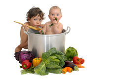 Baby soup Royalty Free Stock Image