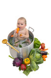 Baby soup stock photography