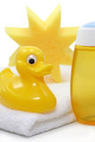 Baby spa. Yellow baby spa on white stock image