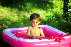 Baby Spa Outdoors Royalty Free Stock Photos