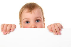 Baby with space for text Royalty Free Stock Photos