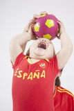Baby spanish team taking ball Stock Images