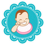 Baby with a spoon Royalty Free Stock Images