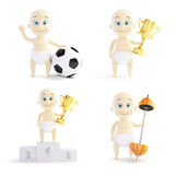Baby in sport set on a white background Stock Photos