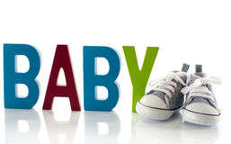 Baby sport shoes Stock Photography
