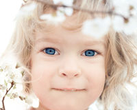 Baby in spring Royalty Free Stock Photo