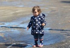 Baby during spring Stock Photos