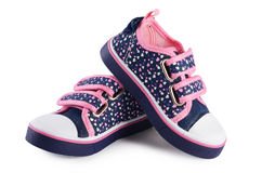 Baby spring shoes  on white Stock Image