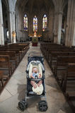 Baby at St Martha's Collegiate Church, Tarascon Royalty Free Stock Photo