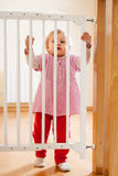 Baby and  stair gate Royalty Free Stock Image