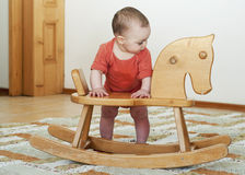 Baby standing Stock Photography