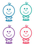 Baby Standing Colors Stock Images