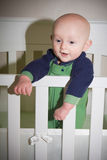 Baby Standing in Crib Royalty Free Stock Photo