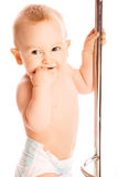 Baby stands Stock Image