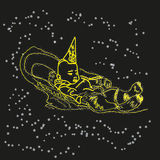 Baby is in the stars. Hand drawn baby is in the stars Royalty Free Stock Photos