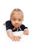 Baby starting crawling Stock Photography