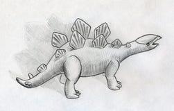 Baby stegosaurus Stock Images
