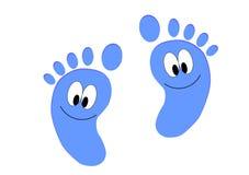 Baby steps. On a background stock illustration